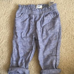 Linen toddler pants